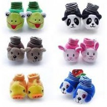 Baby Fancy Cartoon Face Socks cum Shoes